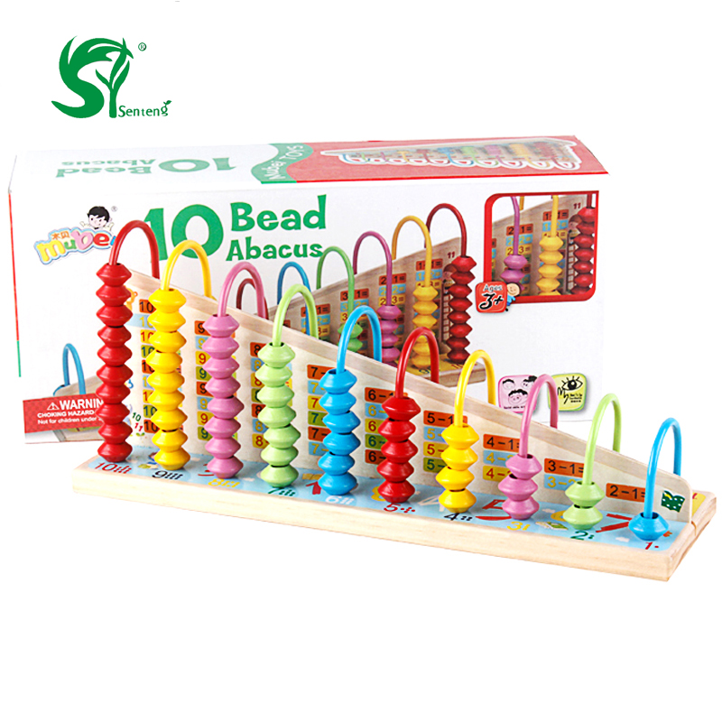 Wooden Toys for children Montessori Educational 10 Level Clouds Computation Beads Math Kids toys birthday present
