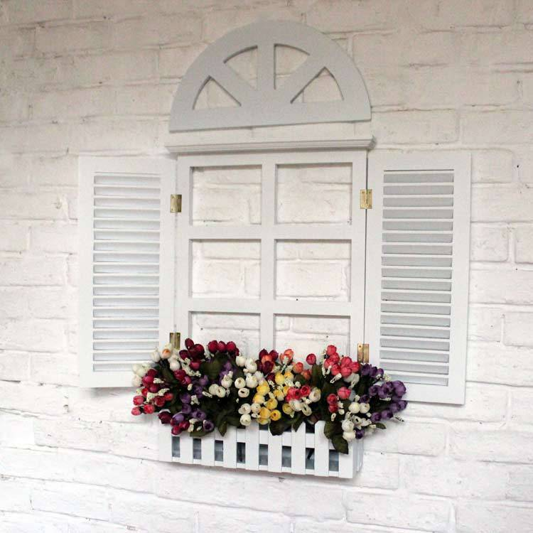 Fake window wall decor home decorating ideas window blinds white holiday decorative wall hangings fake windows ppazfo