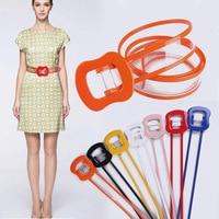 Explosive personality transparent decorative wide belt fashion windbreaker belt lady simple thin waist seal
