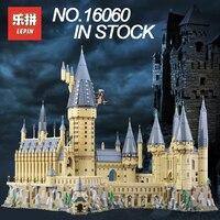Лепин 16060 Строительные блоки Кирпич Гарри Magic Поттер Хогвартс замок Совместимость Legoing 71043 детей развивающие игрушки прикольные подарки