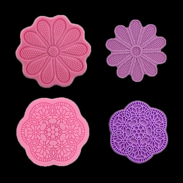 Diy Flower Pattern Round Candy Chocolate Silicone Mold Wedding Cake