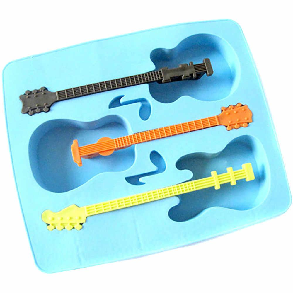 Bandeja de cubitos de hielo de guitarra divertida soporte de paleta de helado palo de molde de helado Lolly taza de café agitador accesorios de cocina