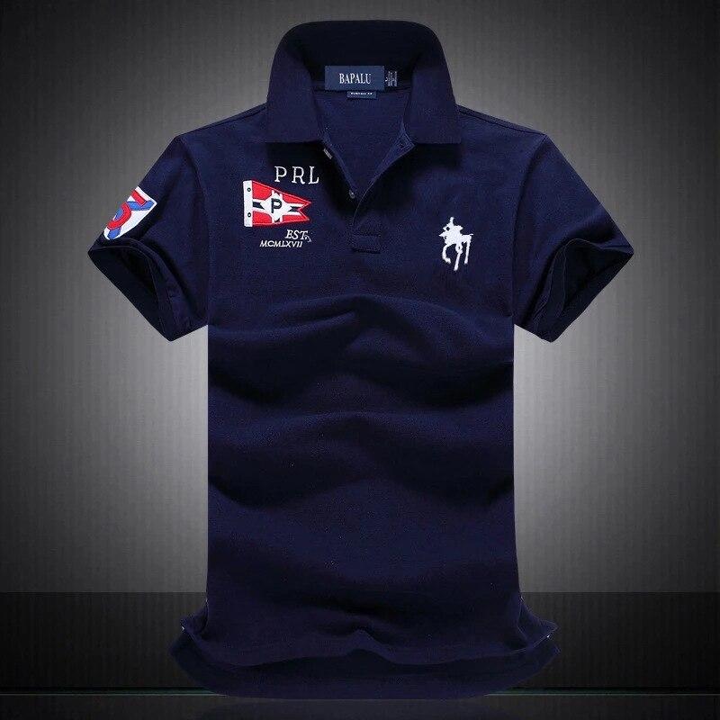 2019 Famous Brand New 100% Cotton   Polo   Shirts Men Short Sleeve Breathable Men   Polo   Shirt Homme
