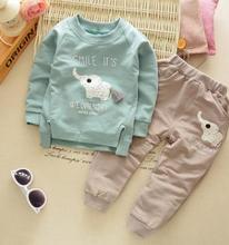 Children Clothing 2019 Autumn Long Sleeve Kits for Baby Boys Costume 1 2 3 4 Year Boy Sweatshirt+pant Pcs/set QHQ058