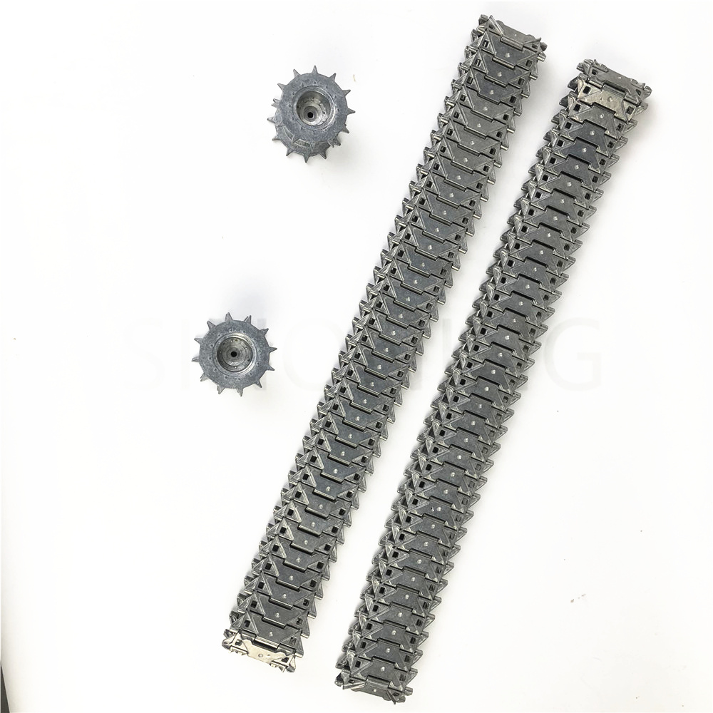 A pair 1:16 metal tank track M41A3 M41 metal track suit 3839 for remote control tank henglong henglong 3839 3839 1 us m41a3 1 16 rc tank upgrade parts metal track 2pcs set free shipping