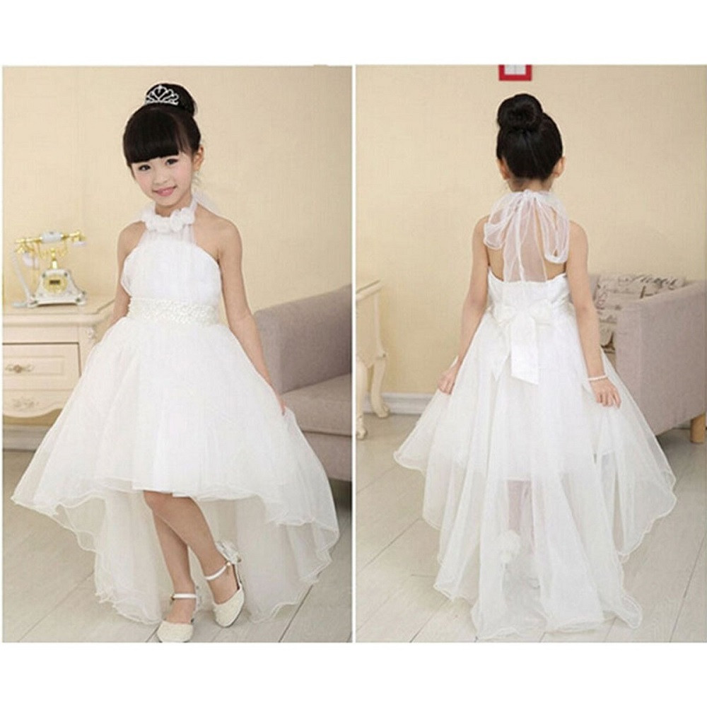 2-8T Baby Kid Girl Princess Dress Kids Party Pageant Wedding Bridesmaid Tutu Dresses Outfits Toddler Clothes Party BFOF baby girl 1st birthday outfits short sleeve infant clothing sets lace romper dress headband shoe toddler tutu set baby s clothes