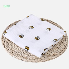 Baby Blanket Muslin Swaddle Wraps Cotton Bamboo Blankets Newborn 120x120cm Character Kid