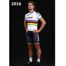 tinkoff 2016 white summer cycling jersey pro ciclismo peter sagan men ropa ciclismo saxo bank tinkoff new MTB with Color bars