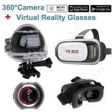 Free shipping! Boblov 4K Action Camera Panoramic Black HD Panorama Camara Wifi Sports VR Glasses