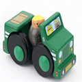 Kid's Soft Wooden Blocks Mini Pull back car Educational Toy High quality gift for children