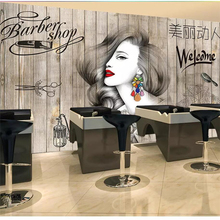 beibehang Custom wallpaper 3d photo mural Nordic hair salon beauty salon barber shop background board wallpaper papel de parede free shipping makeup girl wallpaper theme salon clothing store cosmetics shop manicure background wallpaper mural