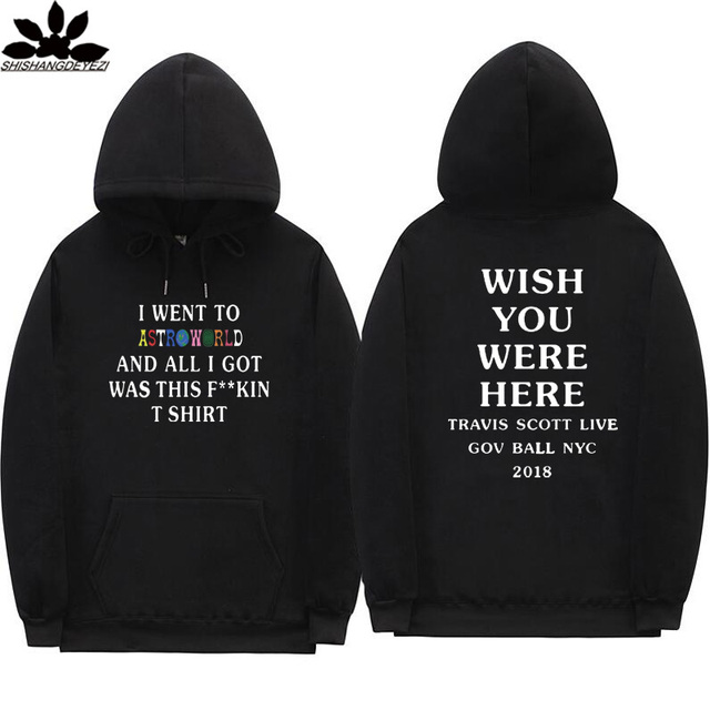 917333c4d795 2019 NEW Astroworld WISH YOU WERE HERE hoodies Travis Scott GOV BALL NYC  2019 letter Hoodie streetwear Man Pullover Sweatshirt