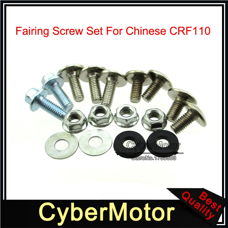 Fairing Screw Set Plastic Panel Bolts For Chinese CRF110 Dirt Pit Bike Motorcycle