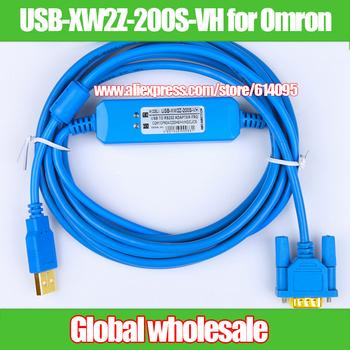 1 sztuk PLC kabel do programowania USB-XW2Z-200S-VH dla Omron CQM1H CPM2C serii USB do RS232 dla com1 cm2a cs cj tanie i dobre opinie Nzluliyuan PLC programming cable USB-XW2Z-200S-VH for Omron CQM1H CPM2C