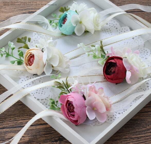 Bride Groom Silk Wedding Corsages And Boutonnieres 2018 New Photography Flowers Party Prom In Artificial Dried From Home Garden