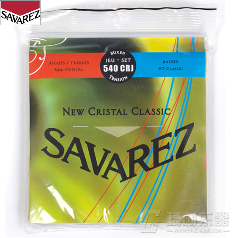Savarez New Cristal/HT Classic Normal/High Tension Classical Guitar Strings Full Set 540CRJ savarez 510 cantiga series alliance cantiga ht classical guitar strings full set 510aj