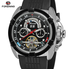 FORSINING Top Brand Men Auto Mechanical Watch Silicone Round
