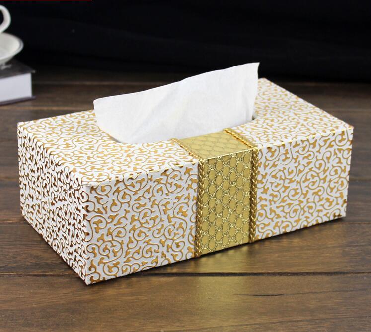 Brand New Office Home Car Napkin Box Set Creative Wood Tissue Box