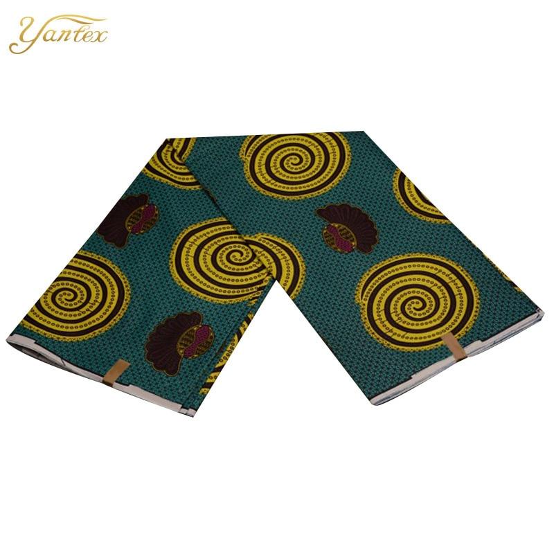 YANTEX African Fabric Super Wax Ankara 6 Yards Patchwork Dress Material African Wax Print Wholesale Wedding Dress Tissu Fabric