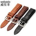 Men's Alligator Leather 12 14 16 18  19  20 21 22 24 26 28 mm Watch Band Strap For Hours Male Female Belt Bracelet Montre Cuir