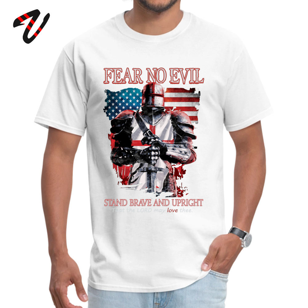 Young Newest Tops Shirt Crewneck Lovers Day All Cotton T Shirt Casual Short Sleeve FEAR NO EVILTEMPLAR KNIGHTS T Shirt FEAR NO EVILTEMPLAR KNIGHTS17845 white