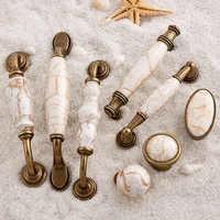 Retro 10 piezas europeo antiguo cocina puerta muebles manijas armario de cerámica cajón vino armario tiradores manijas y perillas