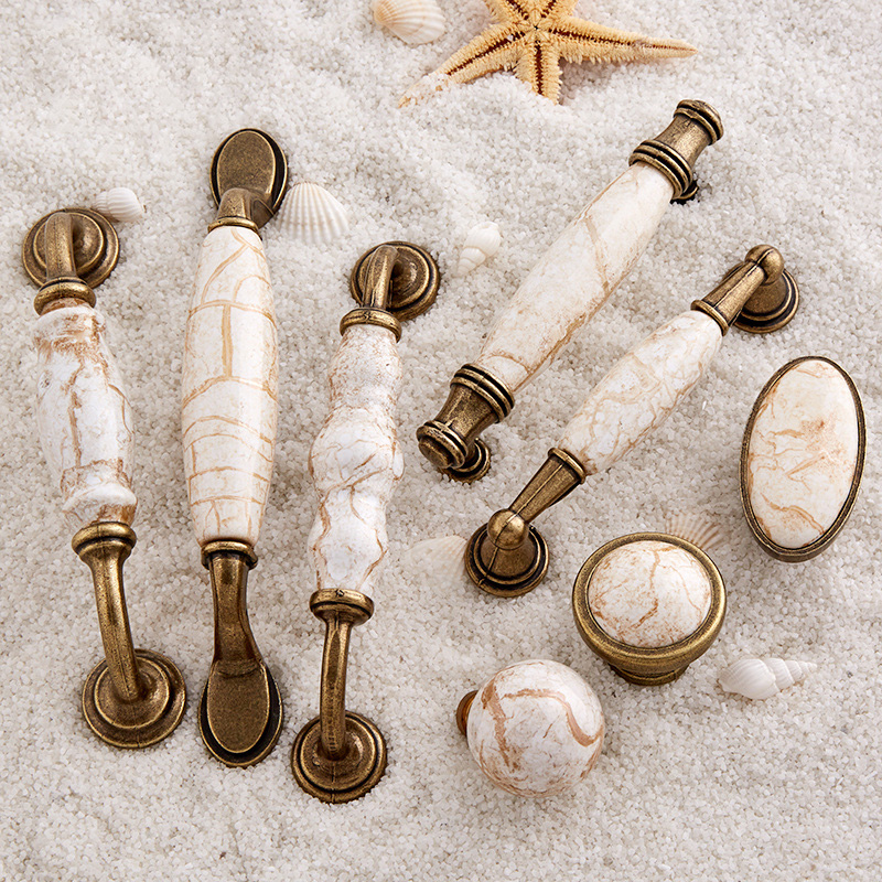 Retro 10PCS European Antique Kitchen Door Furniture Handles Ceramic Cupboard Drawer Wine Wardrobe Cabinet Pulls Handles & Knobs 2017 free shipping european kitchen handle ivory white drawer wardrobe door handles modern simple hardware wine cabinet pulls