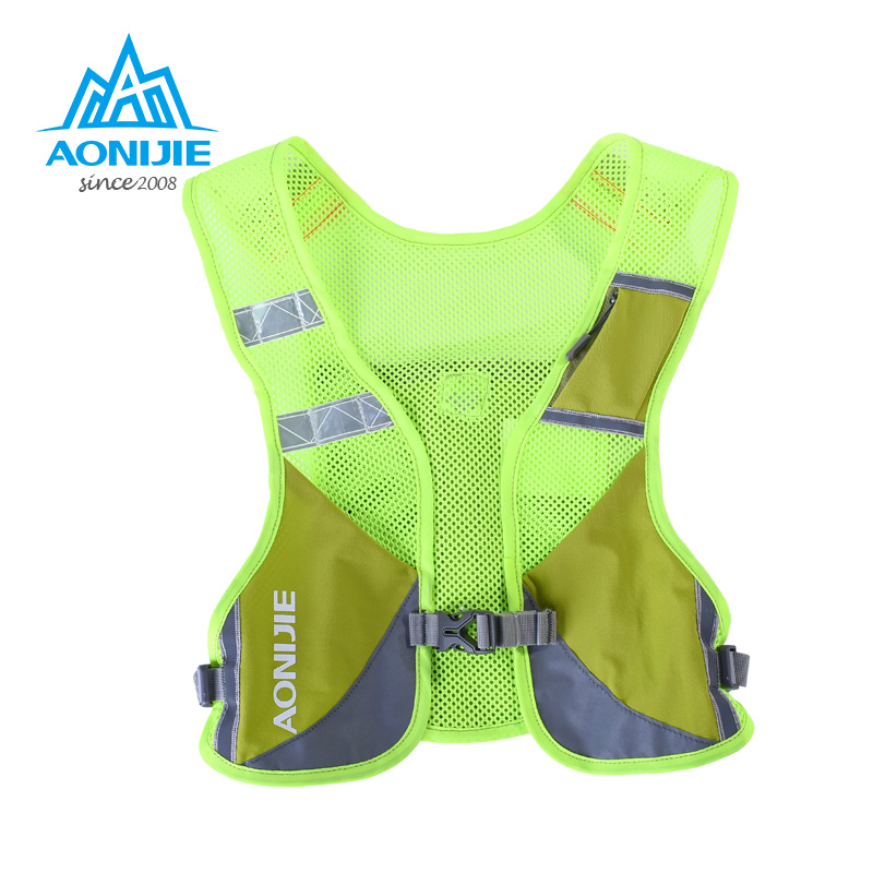 AONIJIE 3L Running Night Reflective Vest Running Cycling Marathon Backpack Hiking Bag Outdoor With 2 Pcs 250ml Water Bottles