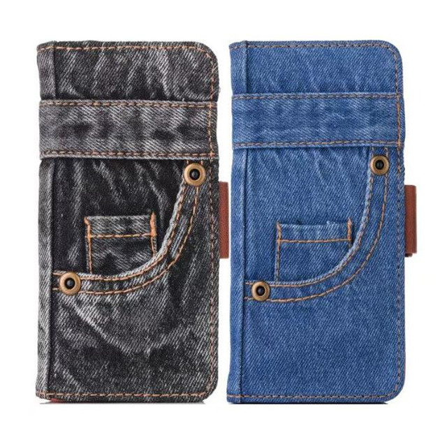 Fashion Jeans Canvas Cloth Leather Case For iphone 6 6s 7 7 Plus Case Book Flip Stand Wallet Bag For iphone X 8 8 Plus Cover Gel