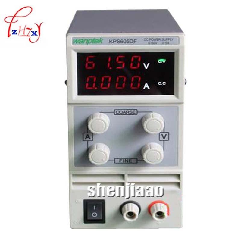 LED KPS605DF 0-60 V/0-5A 110 V-230 V 0.1 V/0.001A UE LED Interruttore Regolabile DC Power Supply mA display Digitale