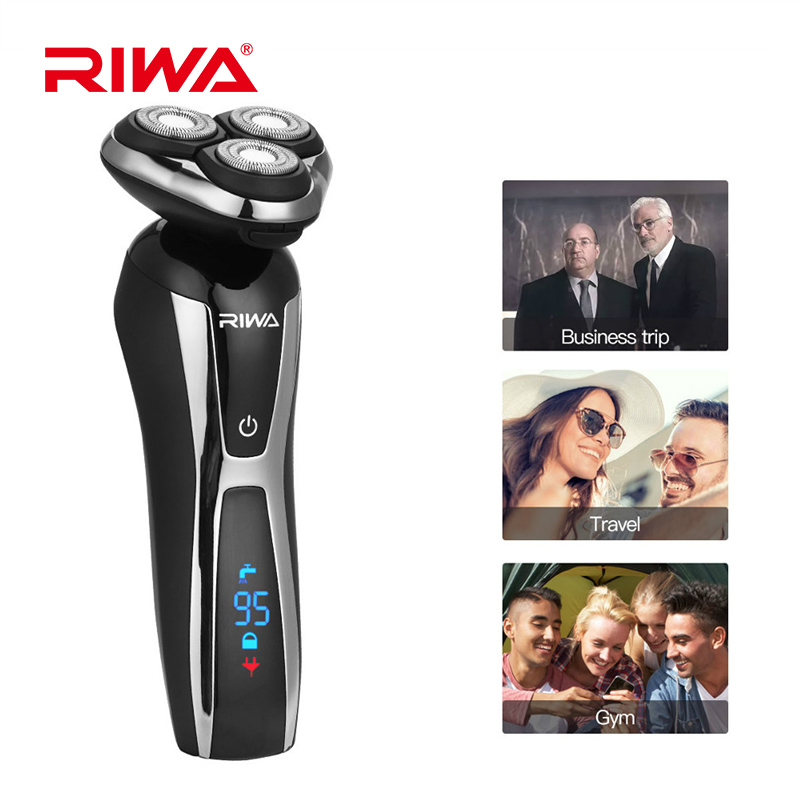RIWA 3 in 1 Washable Rechargeable Electric Shaver Triple Blade Electric Nose Trimmer Razor LCD Display Shaver Men Nose Cutter original 3 in 1 washable rechargeable electric shaver triple blade