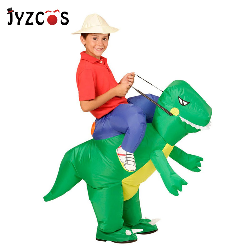 JYZCOS Gonfiabile Costumi di Dinosauro per I Bambini Dei Ragazzi Delle Ragazze Unicorno Cowboy Pikachu Pokemon T-Rex Fancy Dress Purim di Halloween Cosplay