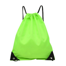 High Quality Nylon Drawstring Bags String Beach Women Men Travel Storage Package Teenagers Backpack Solid Color Dropshipping#YQ