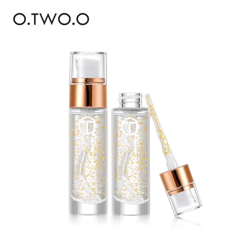 O. DEUX. O Professionnel Maquillage Amorce Liquide 24 k Or Rose Elixir Anti-Vieillissement Hydratant Soins Du Visage 18 ml D'huile Essentielle base de maquillage