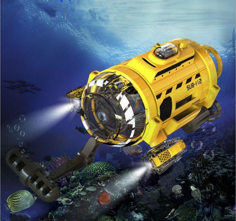 Подводное море сфотографировать/vedio Мини RC игрушка 2,4 г 3CH до 5 м светодио дный светодиодный свет аквариум дистанционное управление подводна...
