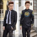 HOT New Chinese Stand collar tunic suit jacket Men's suit sets Moderator dress studio singer stage costumes Court formal dress