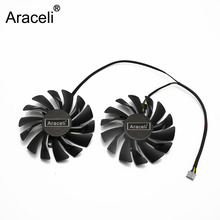 2PCS/lot 4PIN PLD09210S12HH RX 470 480 570 580 Cooler fan For AMD MSI RX470 RX480 RX570 RX580 ARMOR  video card цена и фото