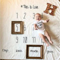 letter new Newborn Baby Soft Photography Photo Props Infant Backdrop Cotton Blanket Rug Sleeping Bags