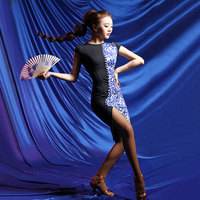 2017 New Latin Dance Women S New Short Sleeve Dress High Quality