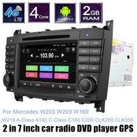 For M/ercedes B ENZ W203 W209 W169 W219 A Class A160 C Class C180 C200 CLK200 CLK350 Car DVD Player Radio Android 6.0
