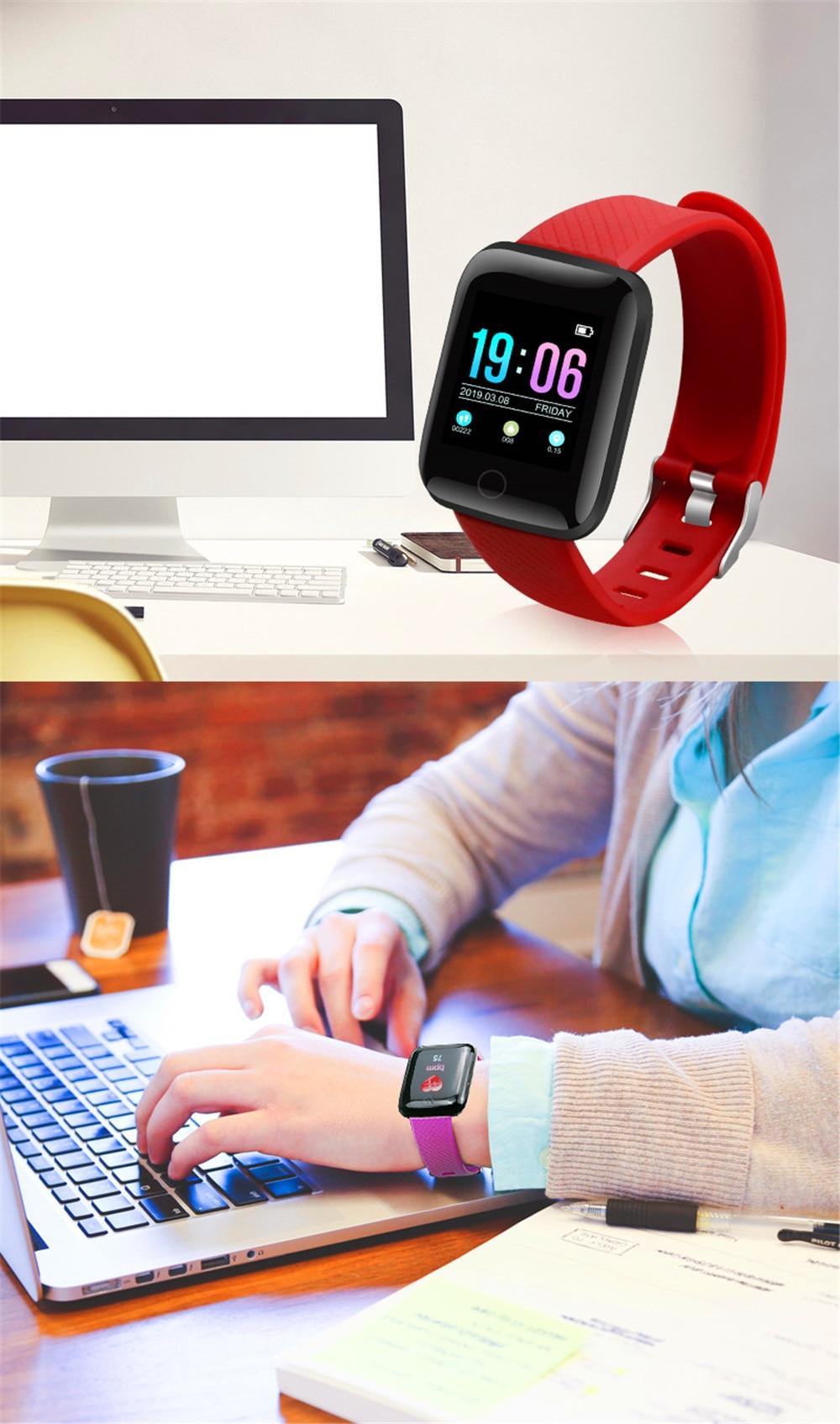 21-130435- Smart Watch Men Blood Pressure Waterproof Smartwatch Women Heart Rate Monitor Fitness Tracker Watch GPS Sport For Android IOS