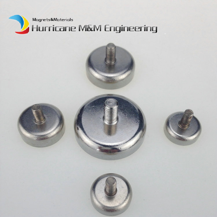 3pcs Mounting Magnet Diameter 75mm Clamping Pot Magnet Male Thread Neodymium Lifting Magnet Strong Holding Magnet 1 pack mounting magnet diameter 12 mm clamping pot magnet with steel hook neodymium lifting magnet strong magnet lathed cup