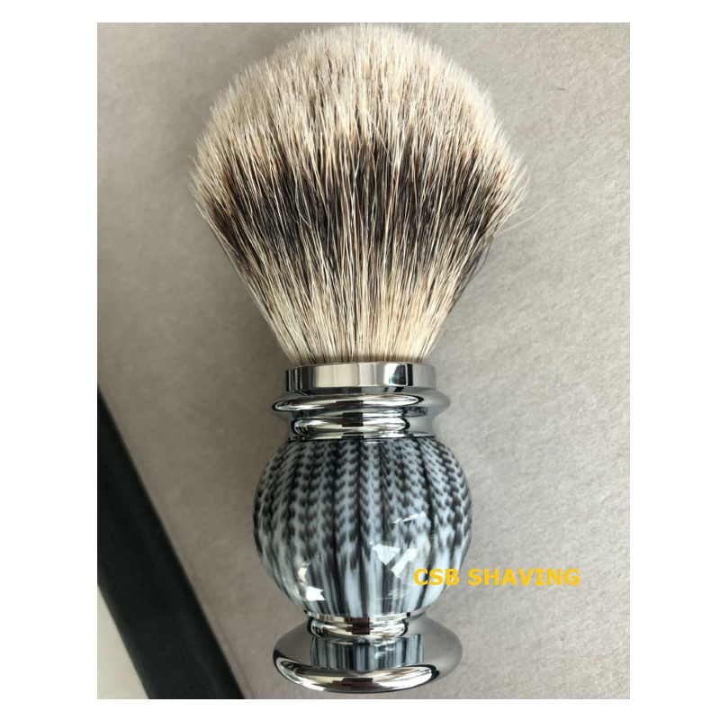 купить CSB High Quality Silvertip Badger Hair Knot 20mm Shaving Brush Mustache Beard Shave Wet Tool Resin Handle Barber Shop Salon по цене 1767.94 рублей