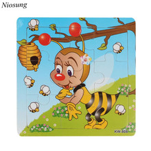 Mordern Bee Wooden Kids Children Jigsaw Education And Learning Puzzles Toys for baby kids 1 3