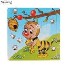 Mordern Пчелы Деревянные Дети дети Jigsaw Образование И Обучение Головоломки Игрушки для детских детей 1-3 лет оптовая