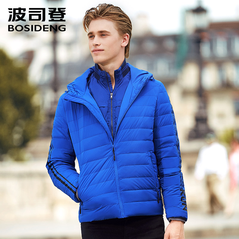 2018 Hot warm autumn and winter high quality men s jacket stitching men s casual wool