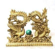 8 Chinese Bronze Fengshui Emperor Royalty Dragon Phoenix Sculpture Statue decoration bronze factory outlets