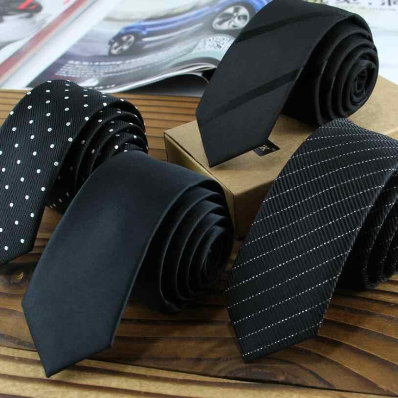 """RBOCOTT 5 см галстук 59 """"Длинные мужские Узкие галстуки черные однотонные полосатые галстуки в горошек для мужчин тонкий галстук для свадебной вечеринки"""