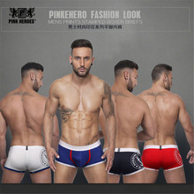 Фотография Pink Heroes Brand men underwear 4 Sexy Gibs Colors New Disign Underwear Men For Male Breathable Elastic Boxers Shorts