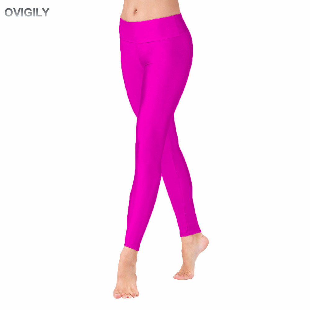 OVIGILY Womens Full Length High Waisted Dance Pants Adults Spandex Lycra Workout Leggings Black Gymnastics Trousers Team Dancing